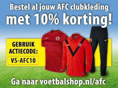 10% korting op AFC clubkleding!