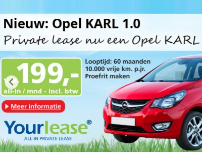 Opel Karl: Private Lease €199 p.m.