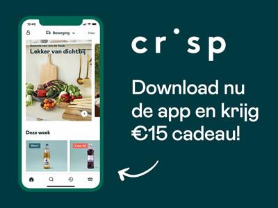 Nu € 15,- korting op je bestelling